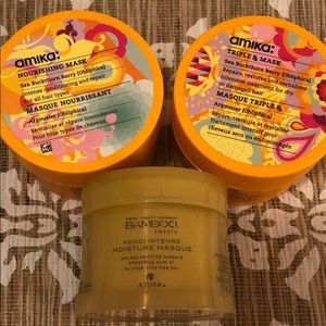 LOT of 3 Brand New AMIKA and Alterna Hair Masks!